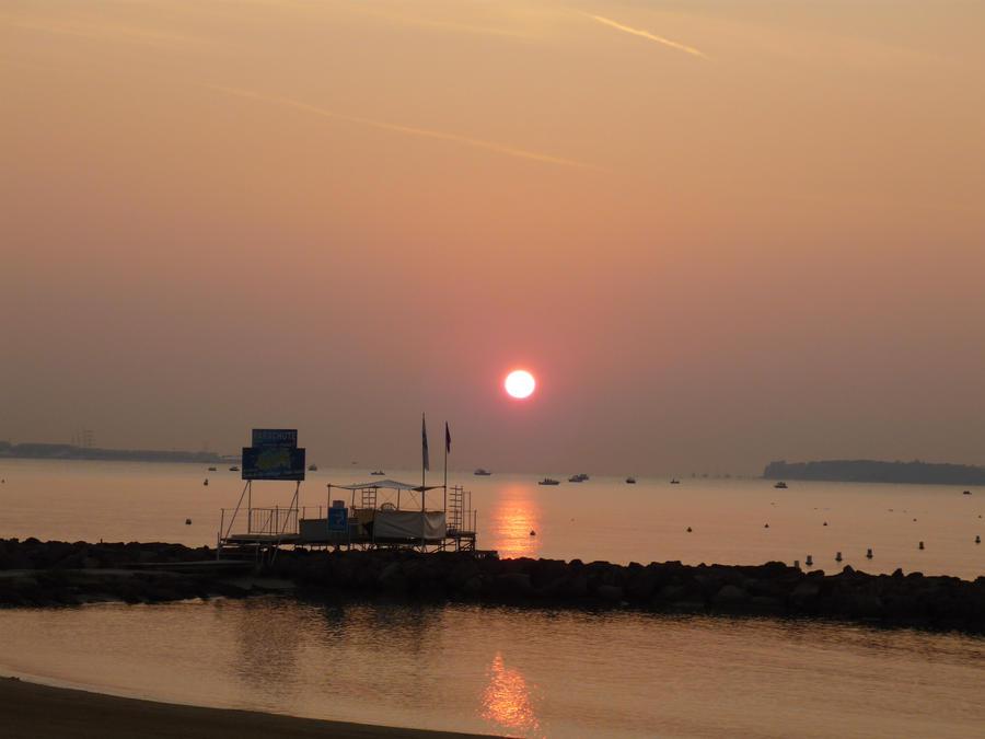 Sun on the sea by Altair-E-Stock