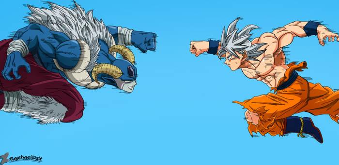 Son Goku UI vs Moro UI -Dragon Ball Super 65-