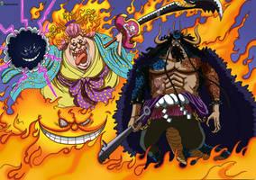 Kaido hybride et Big Mom Homies One Piece 1008