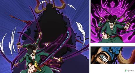 Zoro Ashura vs Kaido - One Piece 1010-