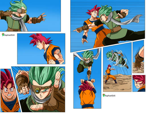 Son Goku Ssj God vs Granola -Dragon Ball Super 72