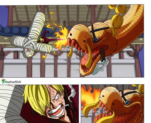 Sanji vs Queen -One Piece 1015-
