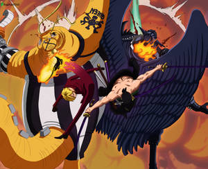 Zoro and Sanji vs King and Queen -One Piece 1022-