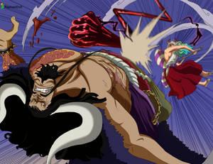 Kaido vs Luffy and Yamato -One PIece 1025-
