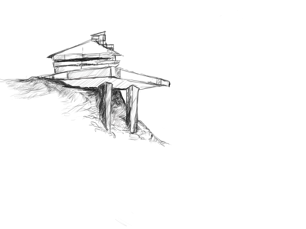 Sketch Of A Modern House By Lavaiso On DeviantArt - Modern house sketch