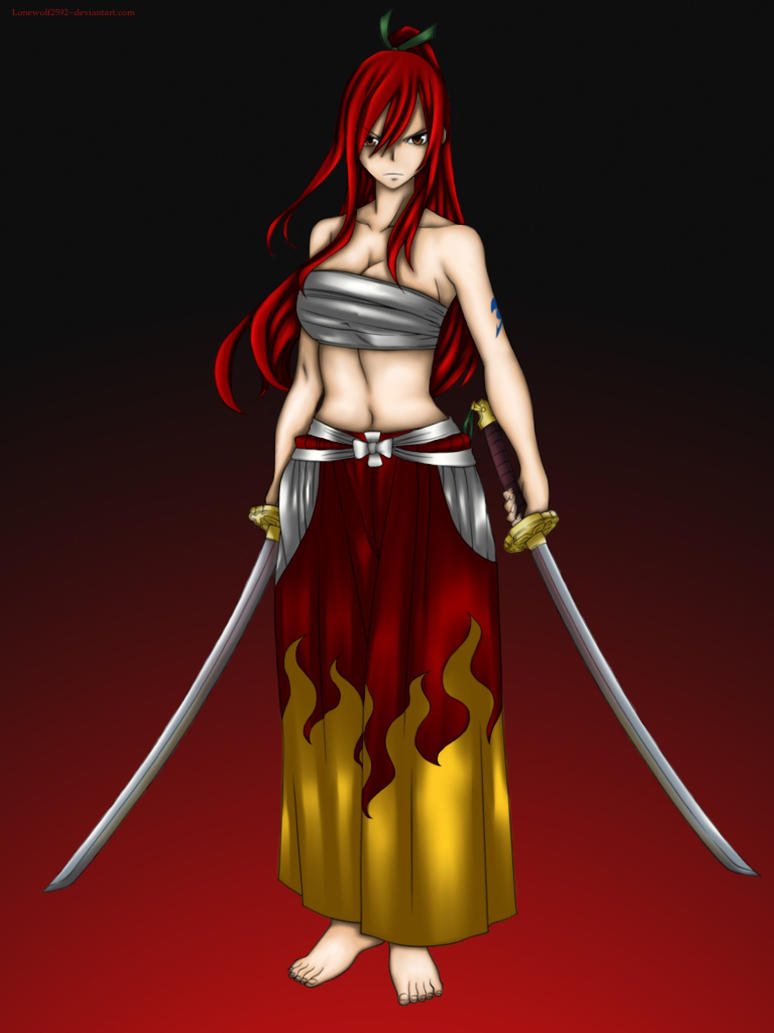 Erza Scarlet By Lonewolf2592 On Deviantart