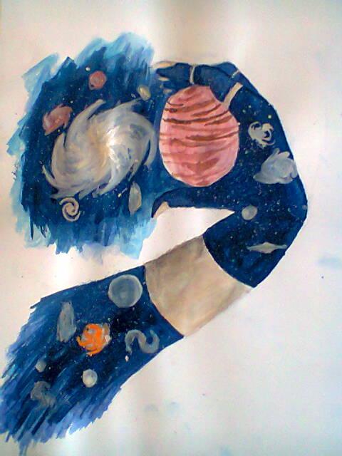 Galaxy hand by EmiPL
