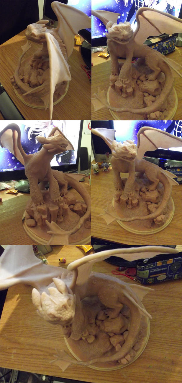Toothless Sculpt by Kero-Kero-Cola