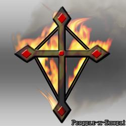 Flamed Cross