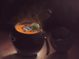 Pumpkin soup by soli-deo-gloria