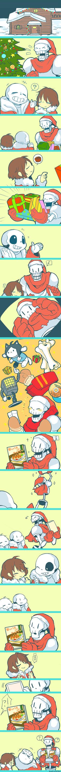 Undertale_Christmas by kuzukago
