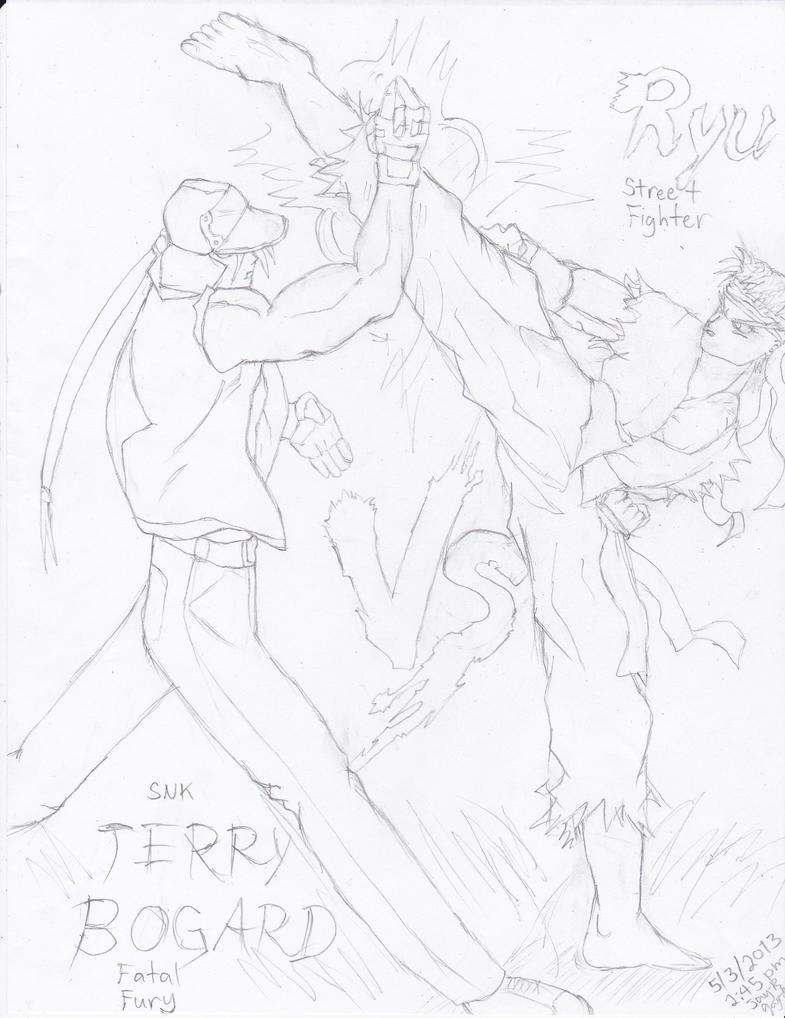Terry Bogard VS Ryu (SNK VS Capcom) by AplG7