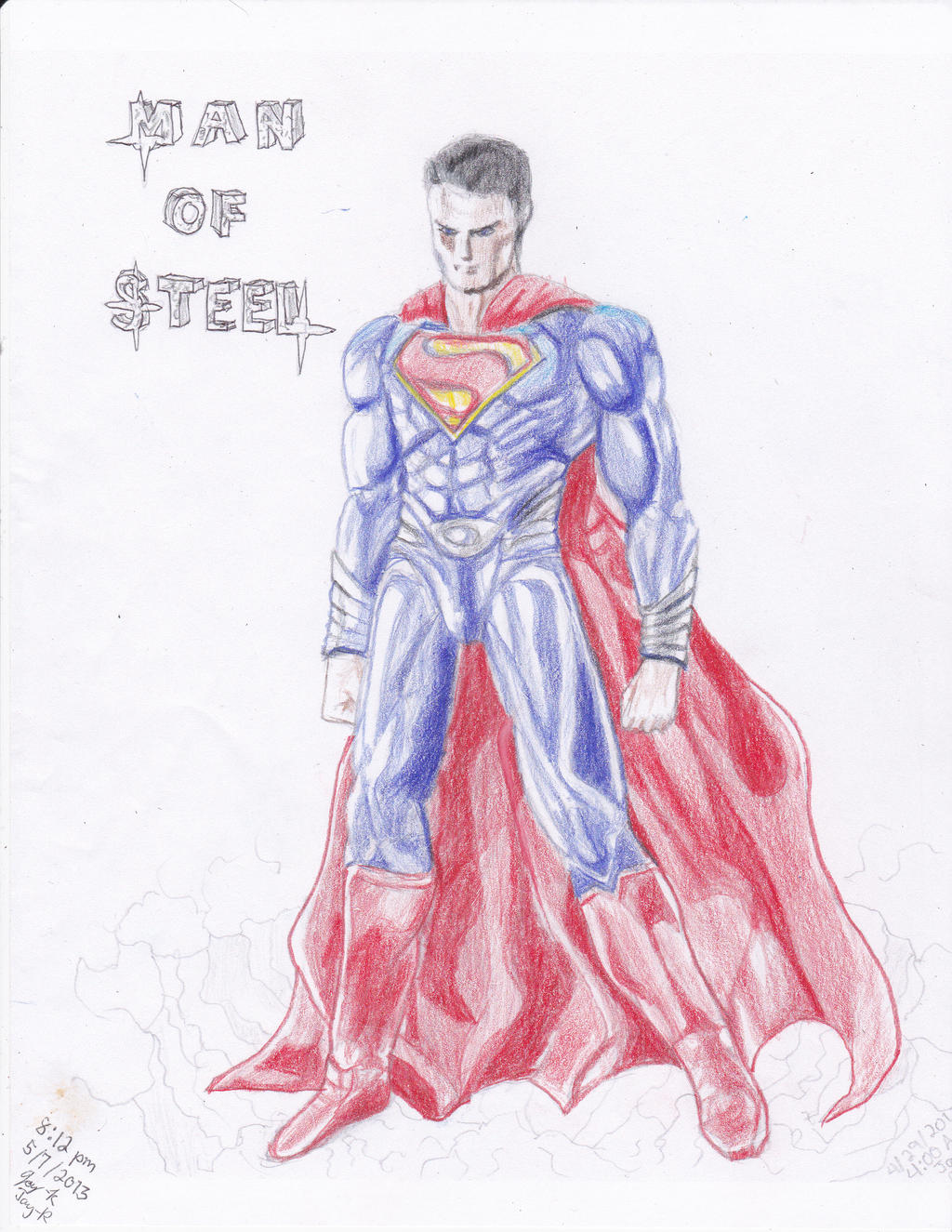 Man of Steel (Superman) Colored Pencils by AplG7