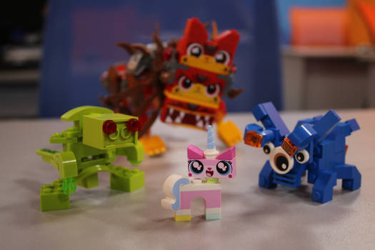 Unikitty! Unikitty! And monsters from our lab.