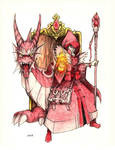 Red mage Immolatus by AKK-STUDIO