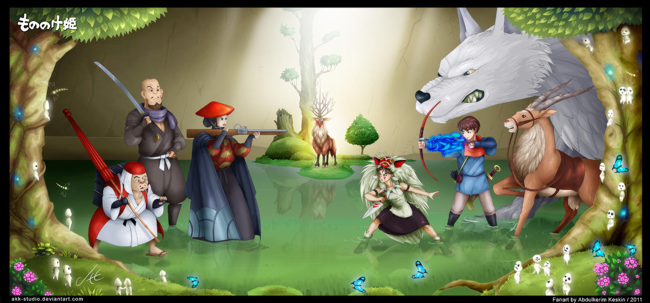 Princess Mononoke by AKK-STUDIO