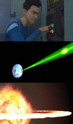 Kenji causes the Destruction of Alderaan