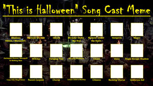 This is Halloween Song Cast Meme (Blank)