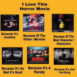 My I Love This Horror Movie Meme