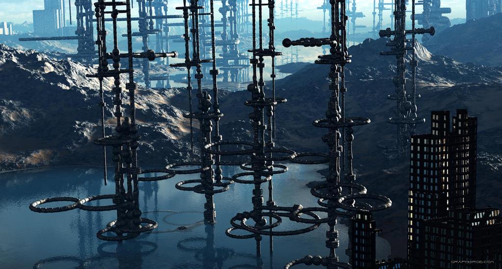 Groboto City Landscape by GraphixRob