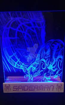 SpiderMan glass art