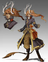Character Design - Faun Pirate by ArtByZephra