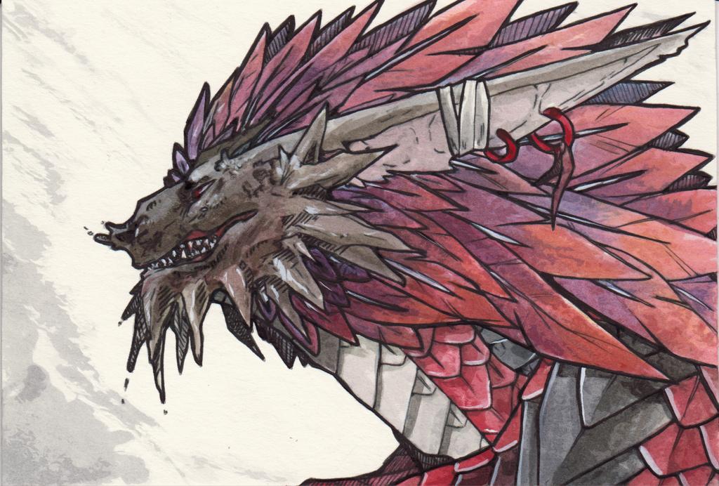 Dragon Watercolor by VanchaMarl