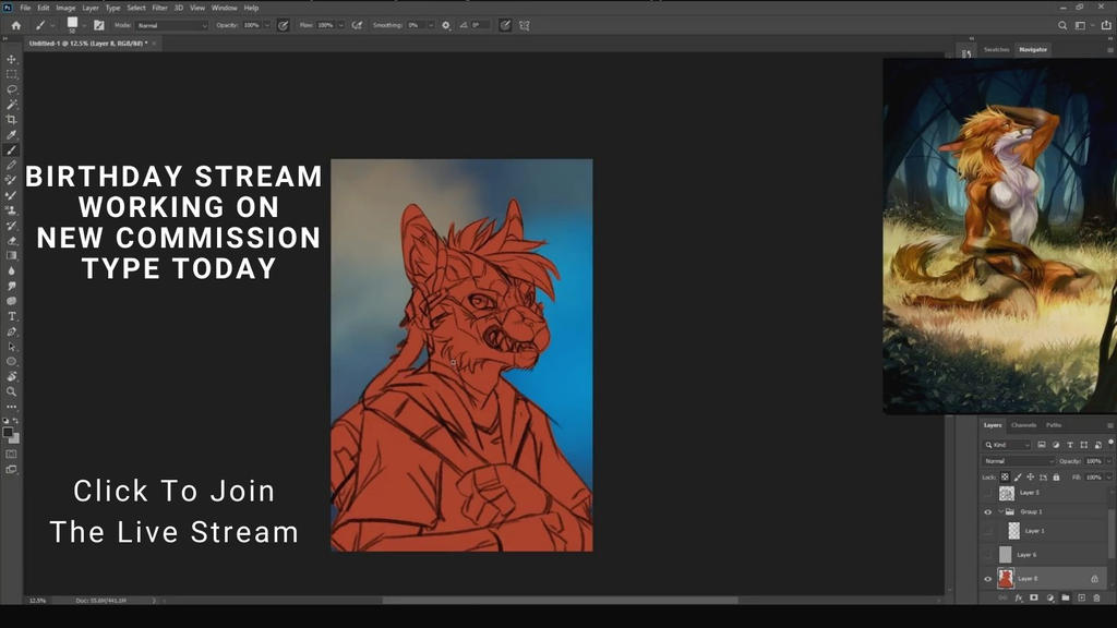 New Commission Type - Live streaming right now
