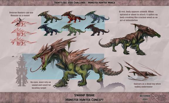 Monster Hunter Concept Challenge  - Zephra 2020