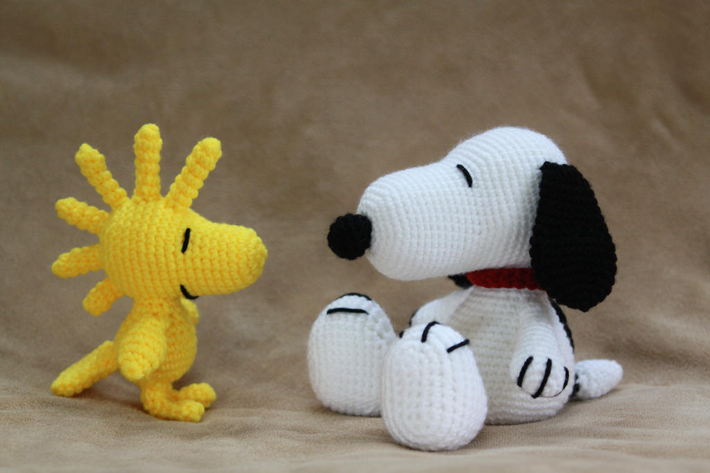 Amigurumi Patterns Snoopy : Snoopy and woodstock by doca74 on deviantart