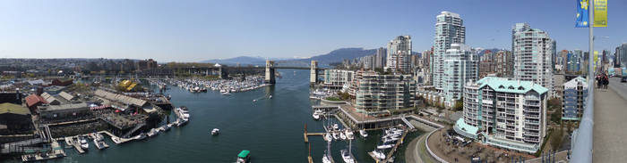 Granville Bridge Panorama by AlphaAlec