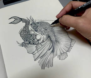 Inktober Day1- FISH
