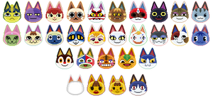 animal crossing icons: cats