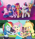Equestria girls Hates G5