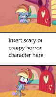 Rainbow Dash Scared Meme Template