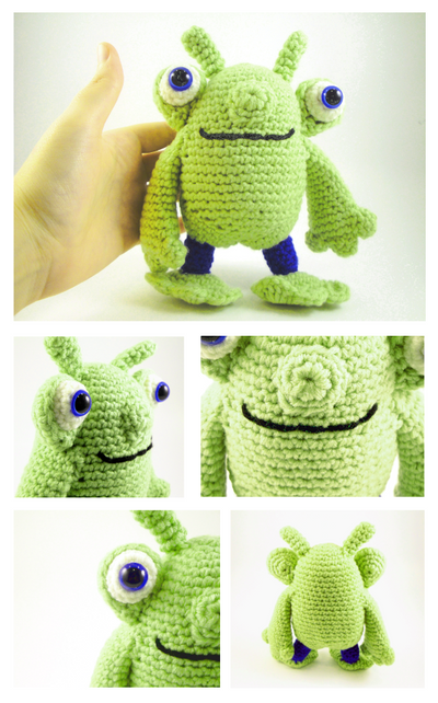 Friendly Alien Amigurumi by stina-marie on DeviantArt
