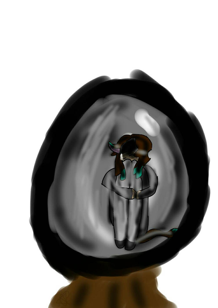 little glass ball of depression by Aliderp123