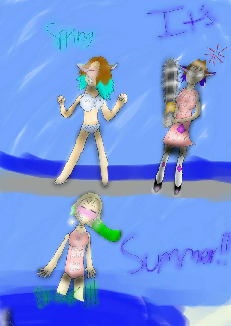 SPRING...summer break?  by Aliderp123