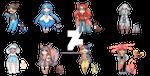 Pokemon Gijinkas Galar Adopts [OPEN] by Calavera-Garbancera