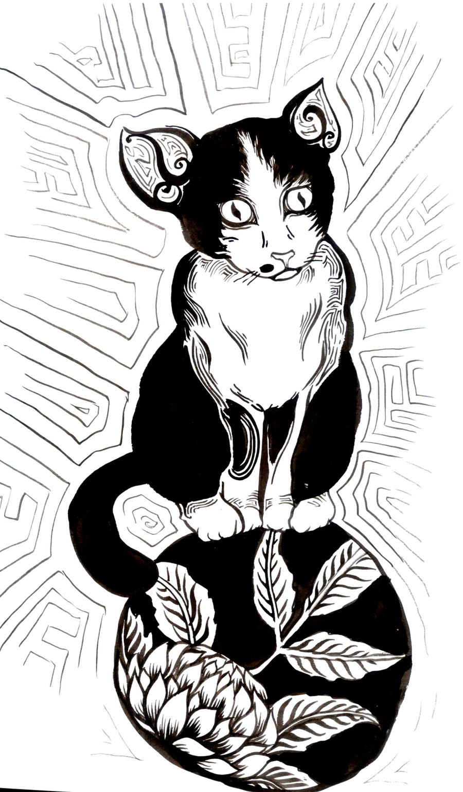 cat on balls by nullbomb