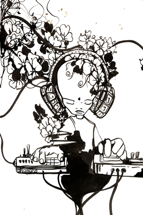 electronic music flowers
