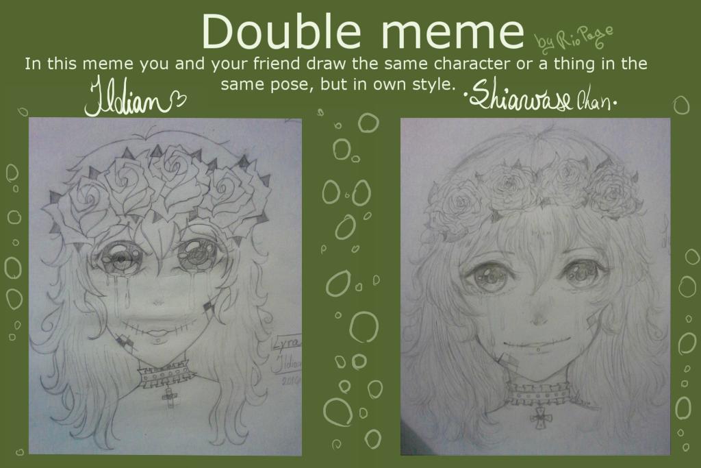 Double Meme ~Lyra~ (w/ Ildian) by SugarColdBeans9