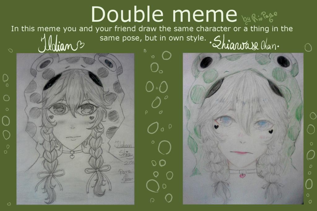 Double Meme ~Shia, the frog(?)~ (w/ Ildian) by SugarColdBeans9