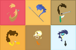 MLP Stallions Vector Silhouettes