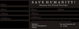 Flood Relief Donation Reciept