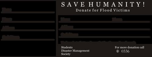 Flood Relief Donation Reciept by zaighamz