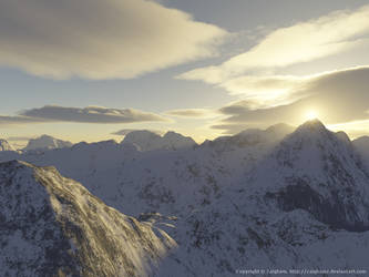 Sunset in Mountains 2 by zaighamz