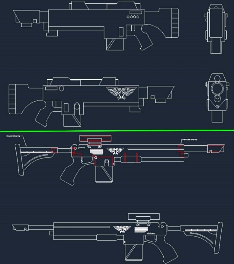 Old and New Lasgun drawings by LamentingFork on DeviantArt