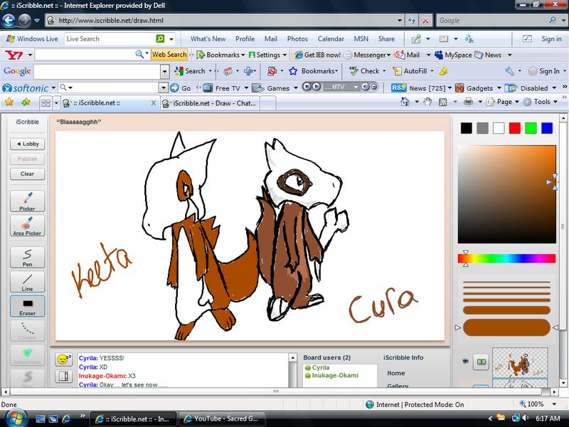 Keeta and Cura-Iscribble by Inukage-Okami