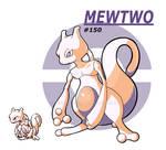Mewtwo Pokemon Red sprite Redrawn